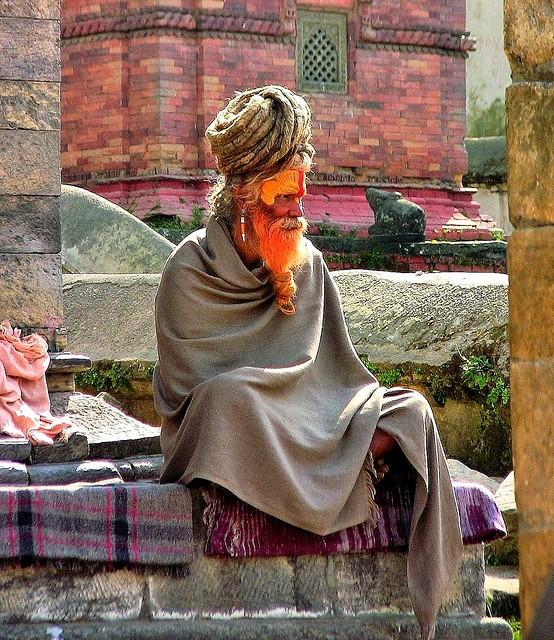 NEPAL, Pashupatinath,Hindutempel und Verbrennungsstätte, Sadhu (serie),  16373/8686