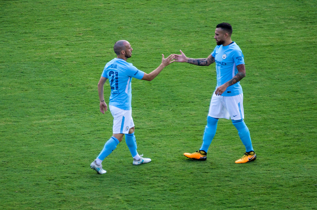 David Silva and Nicolas Otamendi Secret Handshake | Manchest… | Flickr