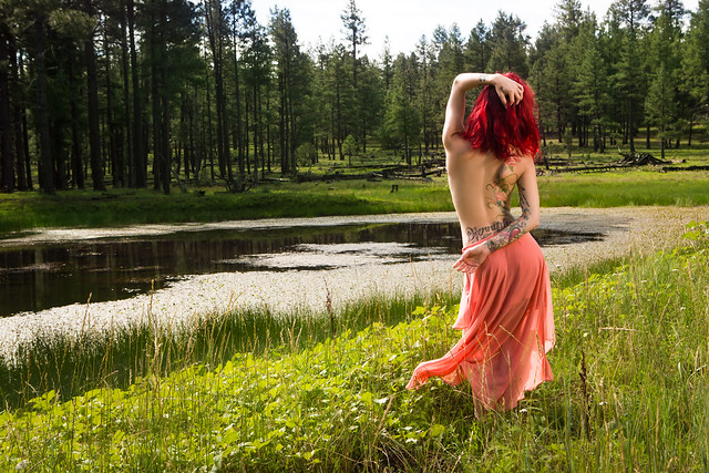 Djennipher long skirt topless by pond (44 of 30)