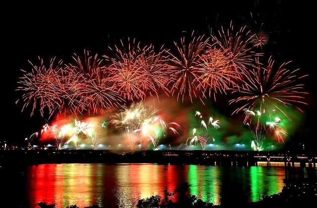 Tanabata Daocheng fireworks