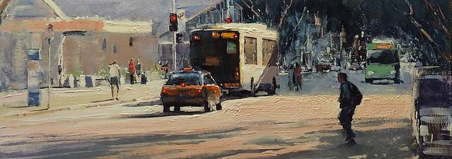 Early Sunlight On Adelaide Street