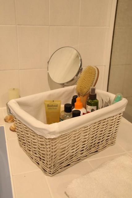 The bathroom basket