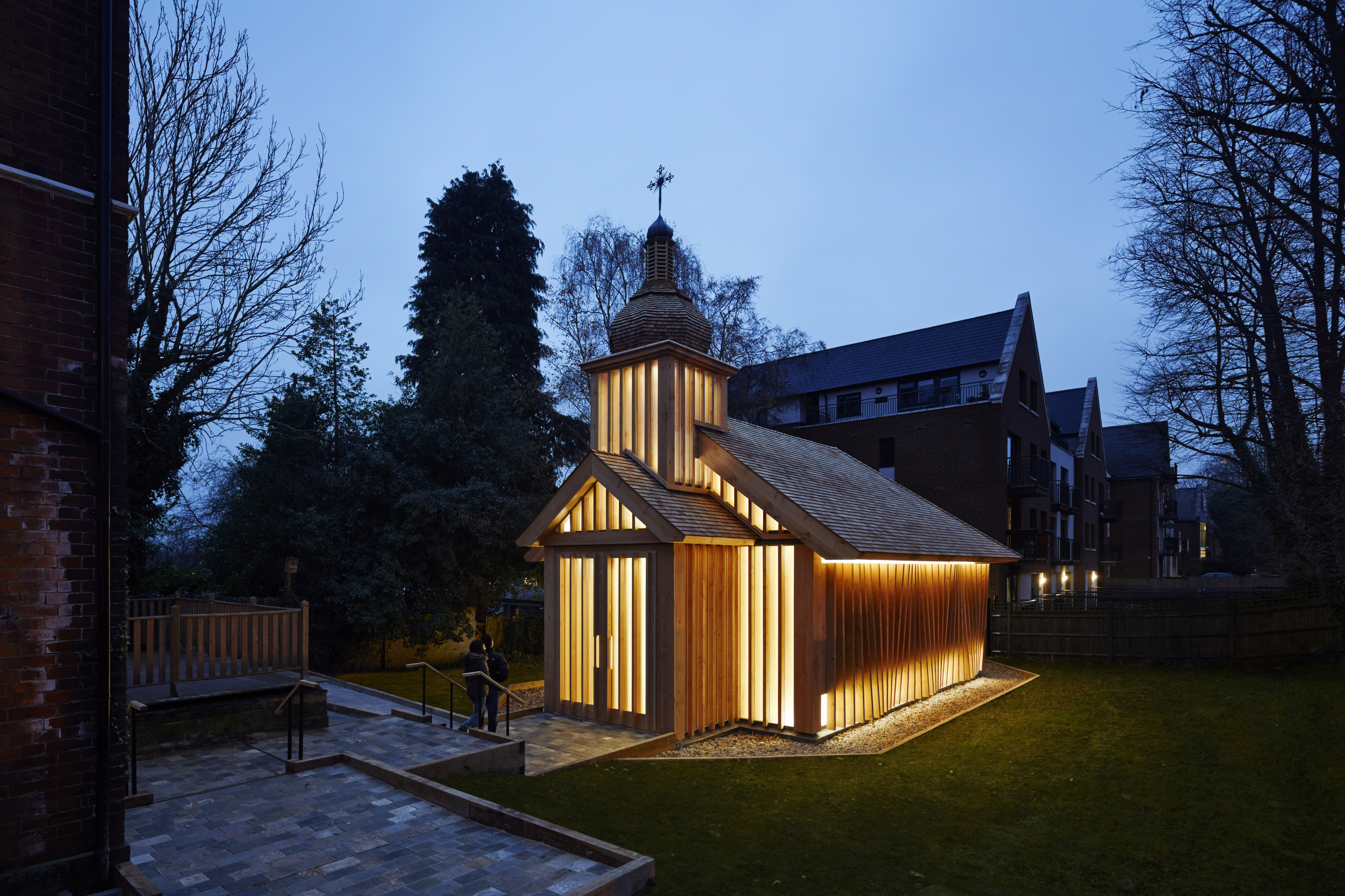 Presidents' Award for new buildings: Belarusian Memorial Chapel (Evening view) (c) Joakim Boren