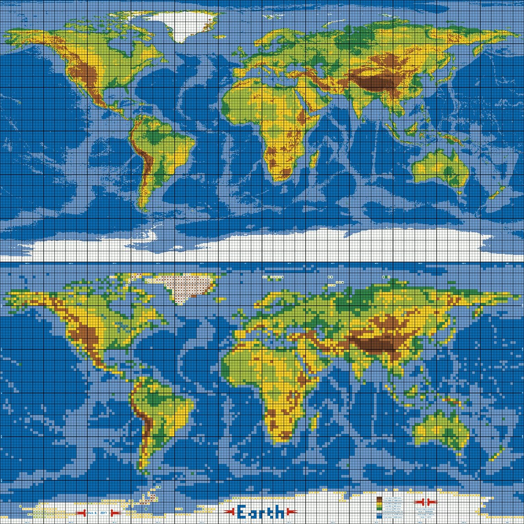 dirks LEGO world map 30 marble versus pixel grid | if you wa… | Flickr