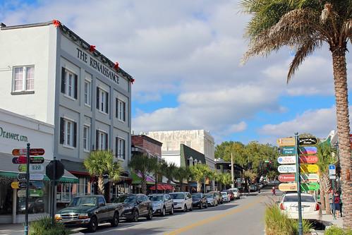 cityscape downtown businessdistrict street commercialbuildings mountdora florida