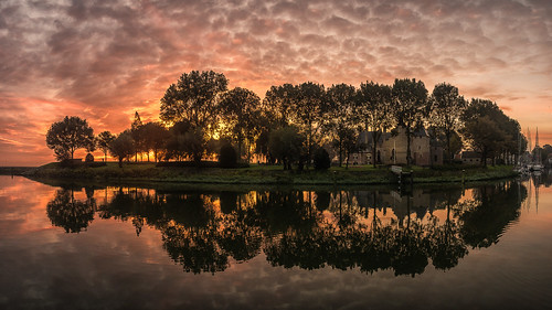 2017 nl urlaub waterwolf kasteel radboud nederland sunrise sonnenaufgang