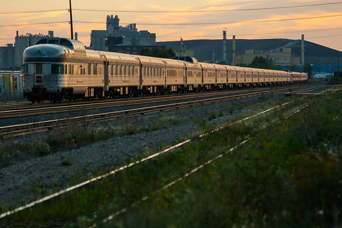 canadian via rail canada edmonton alberta stainless steel train locomotive