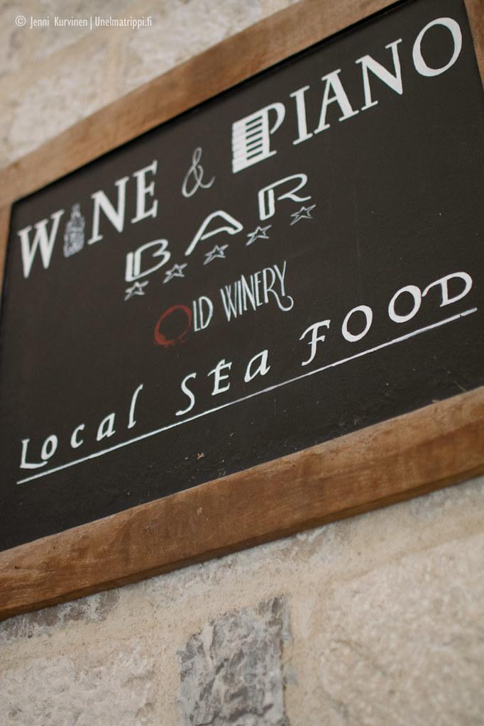 Old Winery -ravintola Kotorissa