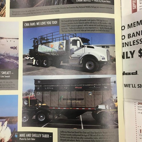 We're very happy to have  Emerald Site Services mentioned in this month's CWA magazine. It's an organization that does so much for our environment, veterans, hunting rights and children's education programs. Proud to be a supporter.  #californiawaterfowl | by emerald_inc_california