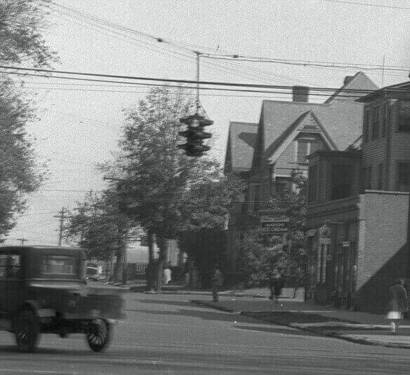 Lamberton St At Howard Ave, View From Kimberly Square In 1