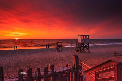 august dawn sun beachentrance nature dramatic cloud redsky sky capecod beach ocean nauset nausetbeach sunrise orleans massachusetts dapixara photography usa