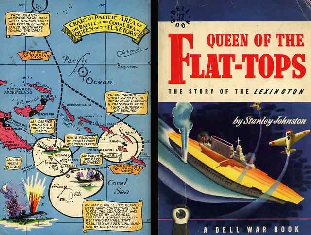 Dell Books 37 - Stanley Johnston - Queen of the Flat-Tops (with mapback)