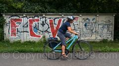 F.C. Vaduz Graffiti Mural, Sevelen, Canton St. Gallen, Switzerland