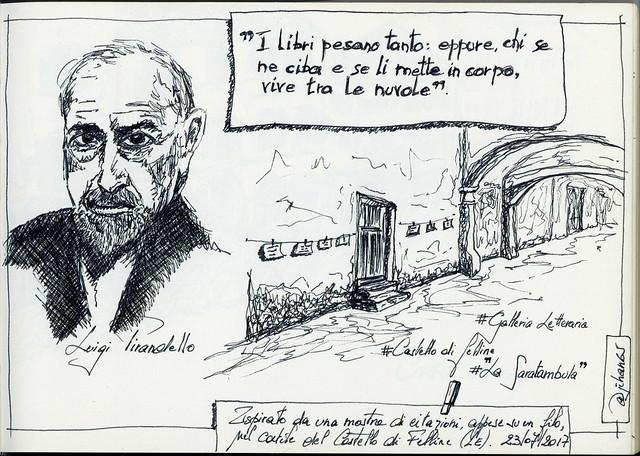Sketchnotes ispirata da una galleria di citazioni - Puglia 2017