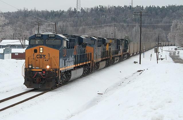CSX 3150 (GE ES44AH) Mortons Gap, Kentucky