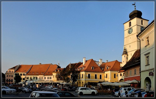 sibiu romania hermanstadt architecture sunset atmosphere