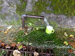 駅から歩いて10分圏内の道端に飲める湧水もあったりする
