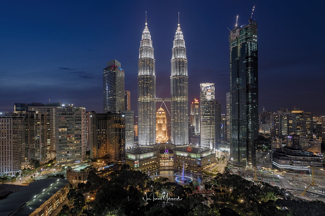 Kuala Lumpur City Centre at Dusk