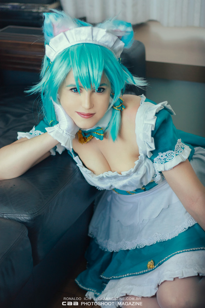 Sinon Maid | SWORD ART ONLINE cos Van