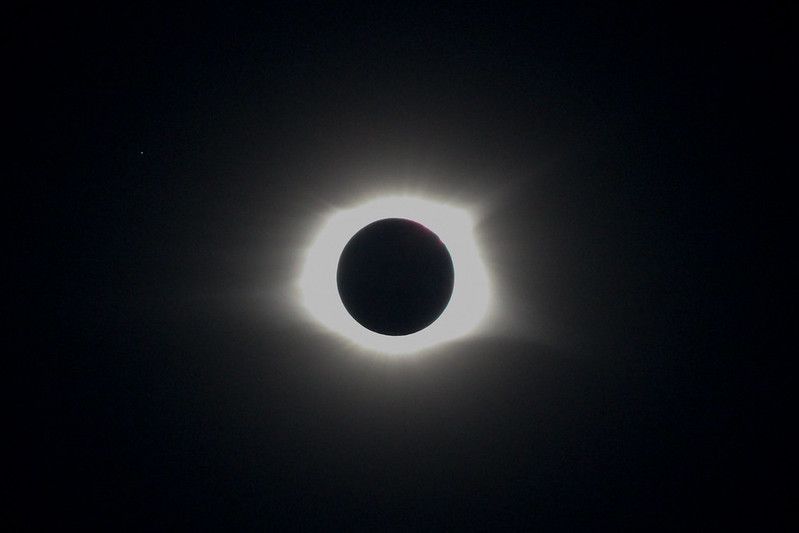 eclipse in black and white