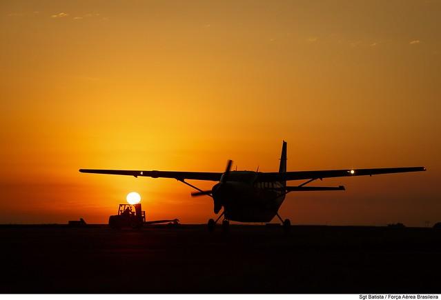 Pôr-do-sol no Pantanal
