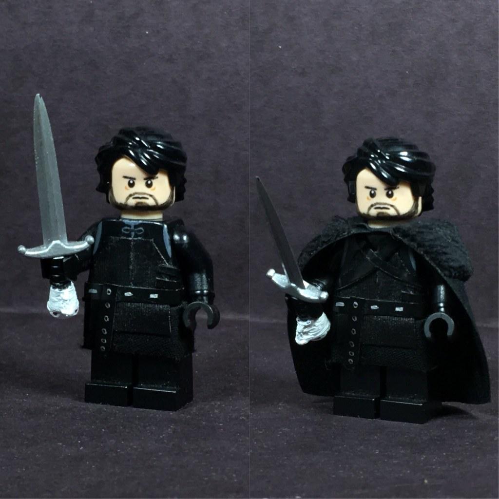 JON SNOW Custom Printed /& Inspired Game of Thrones Lego Minifigure