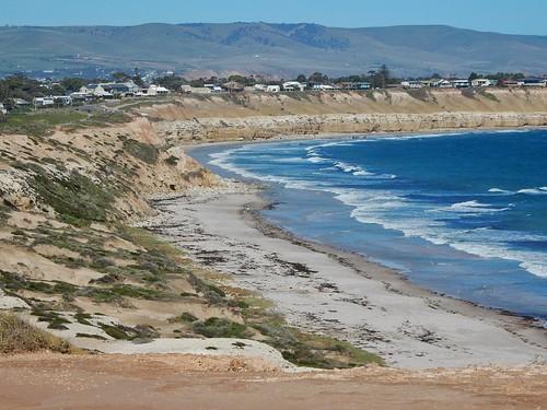 maslinsbeach beach view cost surf waves classic cliffs fleurieu hills majestic