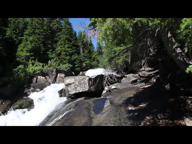 3993 Video of the upper section of the waterfall on Railroad Creek below Lyman Lake