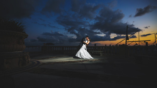 epping forrest yacht club strobist bride groom sunset river jacksonville