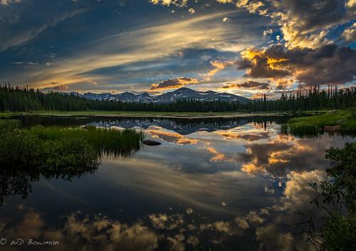 redrocklake indianpeaks southernrockymountains reflection sunset colorado