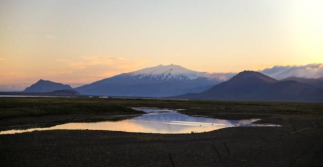 Snæfellsjökull in the Evening