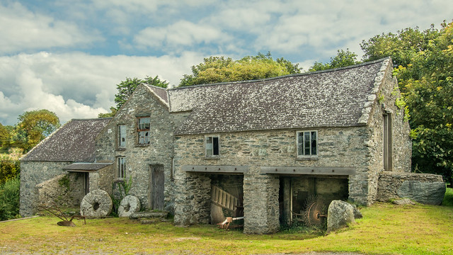 Old Water Mill On Anglesey .. Wales