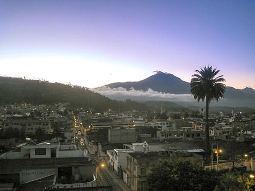 hostalchasqui town ecuador palm landscape sunset otavalo mountain provinciadeimbabura ec