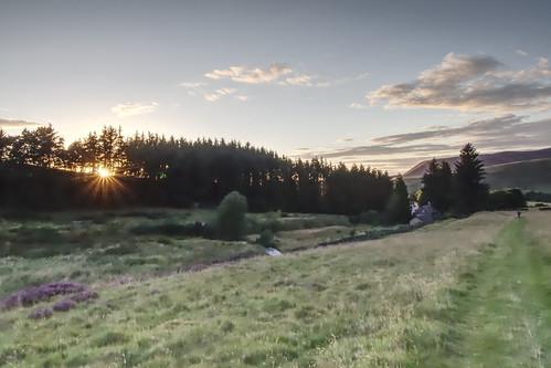 dremelzier scotland borders hills sunset