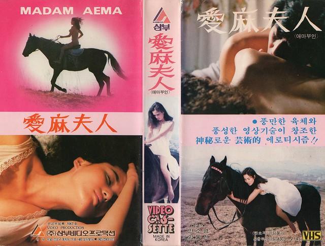 Seoul Korea vintage Korean VHS tape circa 1983 of erotic film