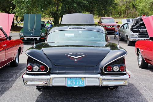 carshow car automobile chevrolet chevy hardtop 1958 trunk lecanto florida