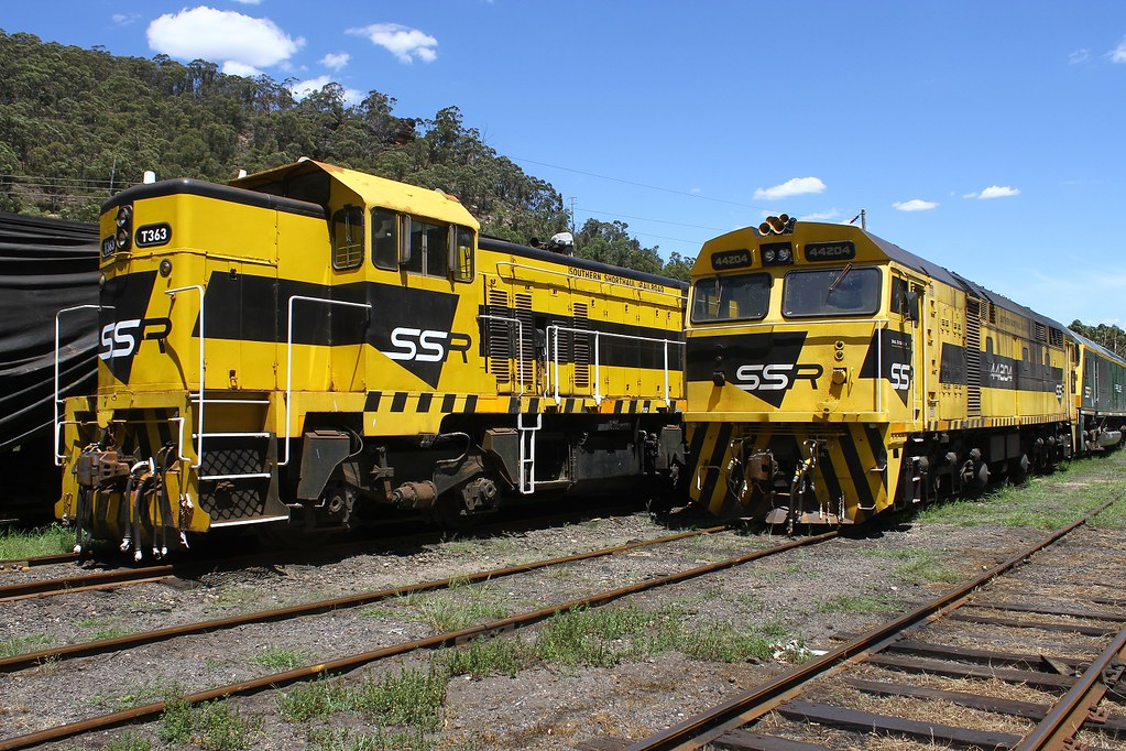 Yellow and Black , EMD and Alco by David Arnold