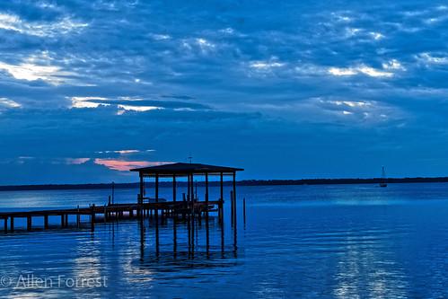 pier greencovesprings florida bluehour usa