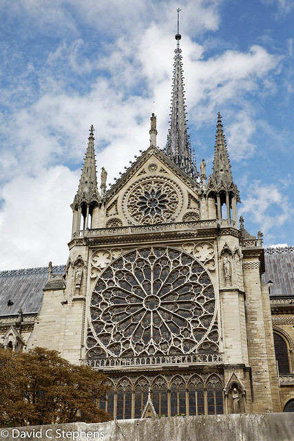 Notre Dame - Rose Window From The Seine