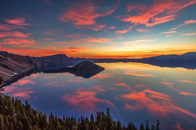 Glorious Sunrise at Crater Lake