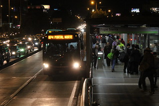 Bus Route B74 in Bogota, Colombia