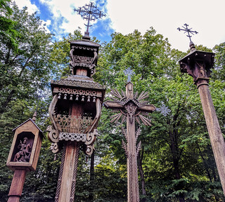 Traditional Lithuanian wooden crosses, Kaunas | by Second-Half Travels