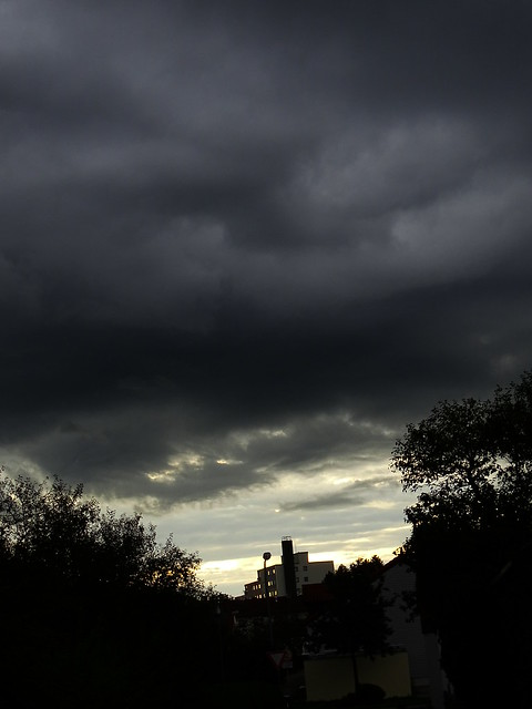 Fenster Sonne Wolken