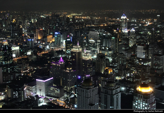 View from Baiyoke Sky Tower II @ Night, Bangkok, Thailand
