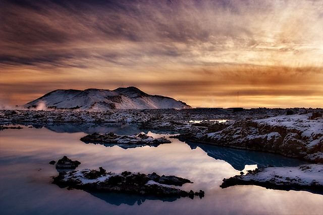 Pink and blue lagoon.