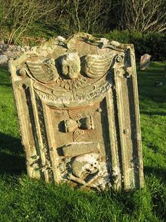 Skull and Crossbones Gravestone, St Medan's