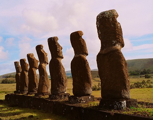 Moai at Easter Island (rear) | by AndrewGill73