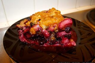 recipe: rhubarb-blueberry pie with papaya-apple glaze