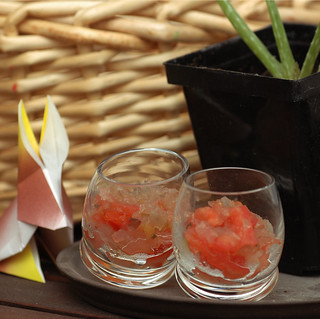 We like to cool off with Jellied Tomato Refresher shots!