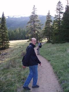 Simon and Wayne on Longs Peak Trail